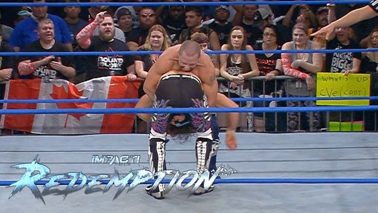 Petey Williams PLANTS Matt Sydal With a Canadian Destroyer.jpg
