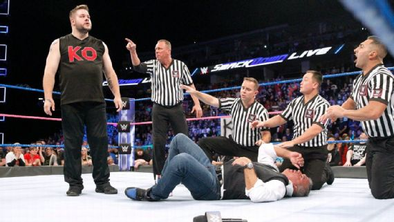 Kevin Owens and Shane McMahon took center stage on SmackDown in the second half of 2017.jpg
